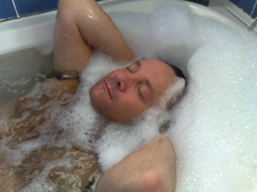 stop messing about in the bubbles and get ready for work!