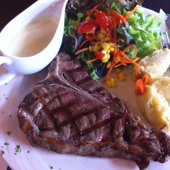 Grilled T-bone Steak @ Scoozi Pizza