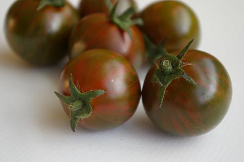 Striped tomatoes