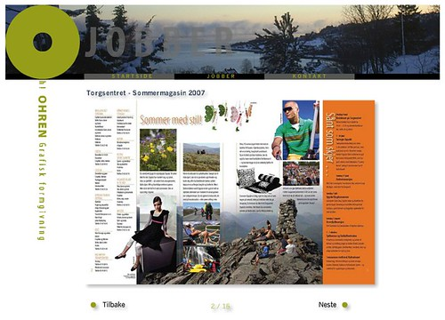 Ohren Grafisk design - Example portfolio page