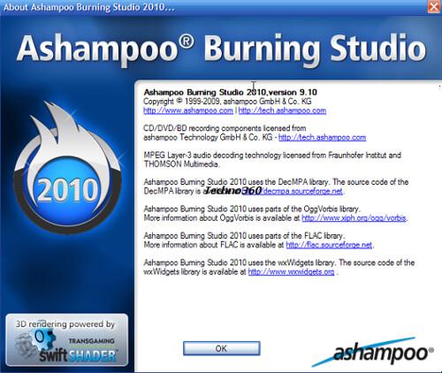 ashampoo burning studio 2010 free full version key