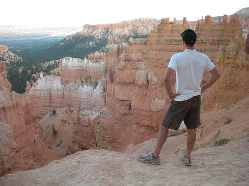 Enjoying sunset at Bryce Canyon National Park overlooking all the Hoodoos.