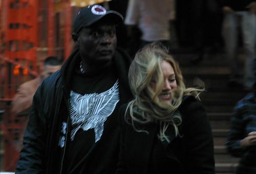 Hilary Duff: Gossip Girl Set 10/13/09