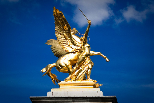 Pegasus on Pont Alexandre, Paris by Max London.