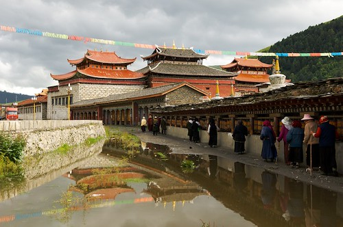 The Tibetan Monastery in Datong, Tibet (China).