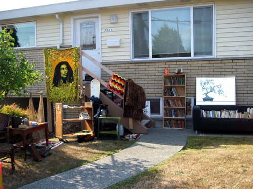 Freaky hipster yard sale