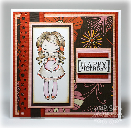 Happy Birthday by Jennifer Shults, handmade card