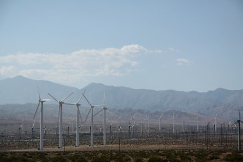 Wind farm between Orange County and Palm Springs, California
