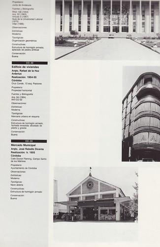 del Mercado del Alcázar, como obra de arquitectura pública de interés de ese periodo histórico de 1936-1986, incluido en un inventario de 66 edificios de Córdoba capital