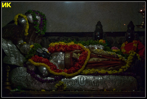 Lord Ranganatha with Sreedevi and Bhoodevi