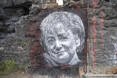 Angela Merkel painted portrait _DDC8556