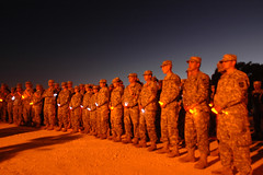 Soldiers Gather for Twilight Vigil at Fort Hood