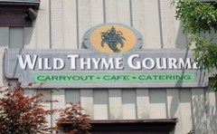 wild thyme gourmet - signage