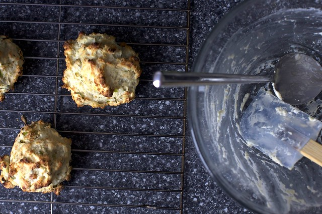 blue cheese green onion drop biscuits