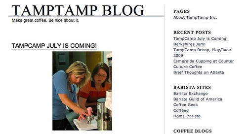 screen capture of TampTamp Blog