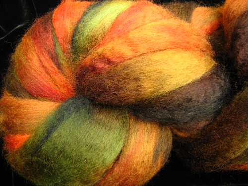 Scrumptious Hand Dyed BFL Wool Top Roving