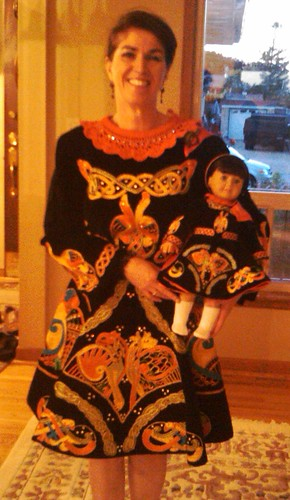 Original dress with doll dress by you.