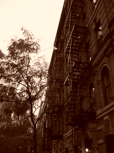 New York building and fire escapes