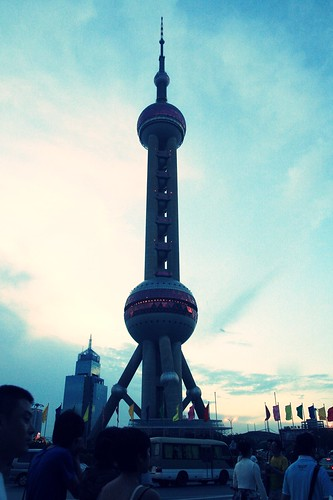the oriental pearl TV tower by you.