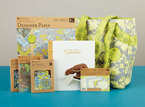 Top 5 Prize Package: Amy Butler Scrapbooking Tote Bag, Lotus Faded China collection and copy of Paper Crafts Gourmet.