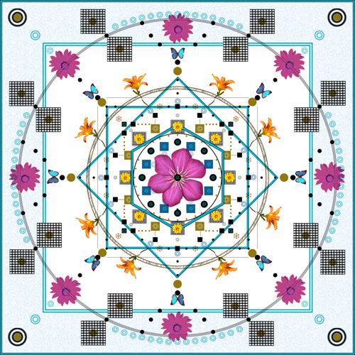 mandala 5 digital art (c) 2009, Lynne Medsker