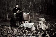 Trash the Dress Lawn Mower vs Wedding Dress