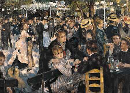 Pintura de Auguste Renoir retratando o tradicional baile do Moulin de la Galette em Montmartre