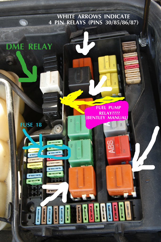 4 pin relay wiring diagram fuel pump 2000 vw beetle headlight 1994 e36 m3 issues