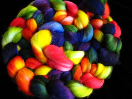 Rainbow - Hand Dyed on Superwash Merino Combed Top
