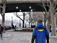 South Bank Book Market and Chris