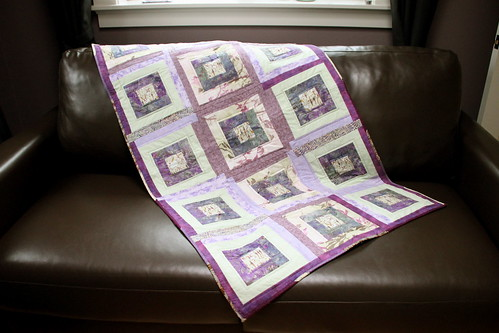QfQ: Purple gone wild! - quilt for sale!
