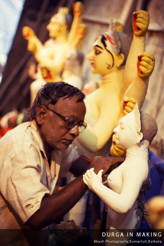 Durga in Making | Kumartuli