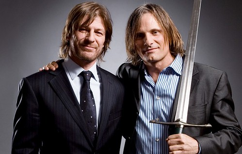 "SEAN BEN & VIGGO MORTENSEN ""Lord Of The rings"" (Boromir y Aragorn)"
