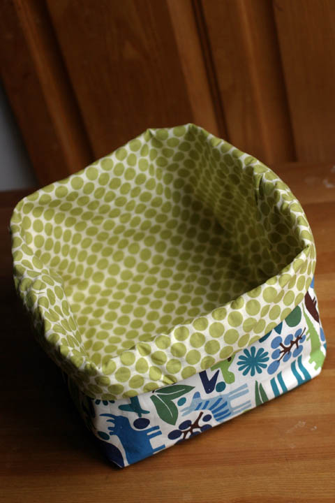 Fabric Box: finished product