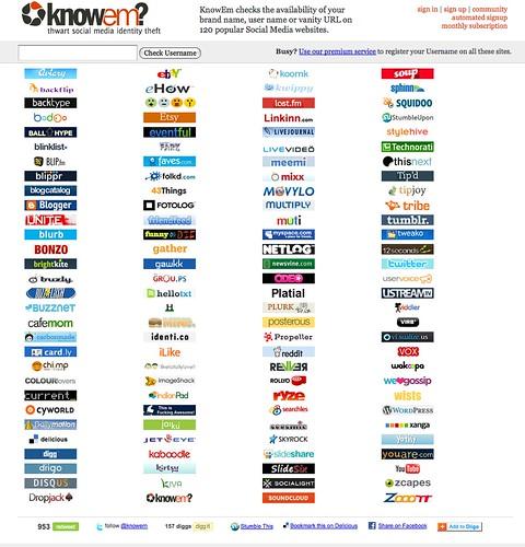 SocMed Username Checking Sites: KnowEm