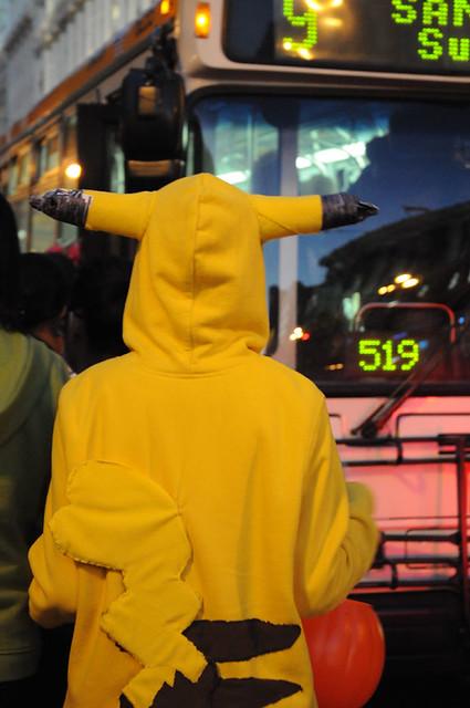 Pikachu on MUNI