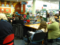 Carmel Courtney at Lyttelton Library