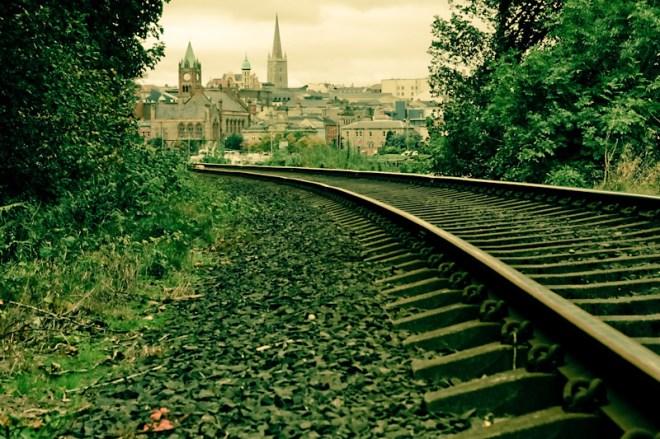 along the tracks - derry