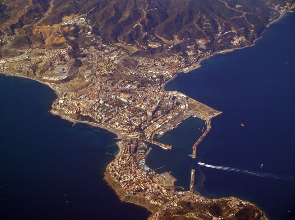 The spanish city of Ceuta in Africa