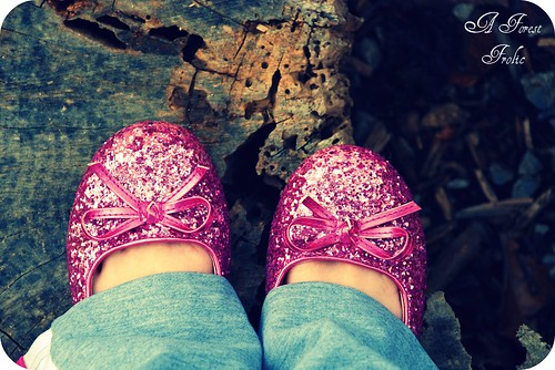 pink & sparkly shoes