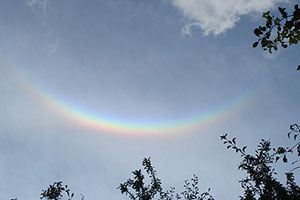 Upside down rainbows, or 'circumzenithal arcs', to give them the proper name, are not caused by rain.