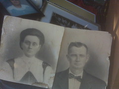 These photos of my paternal great-grandparents were taken to commemorate their wedding.
