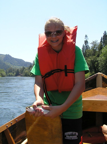 Shea with a Mckenzie River Trout