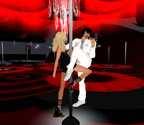 Hamlet & me on the dance pole at Rouge