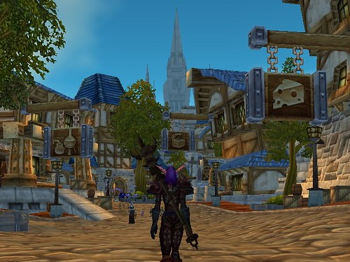 The Cathedral rising beyond the Trade District