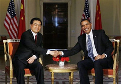 Presidents Obama and Hu Jintao