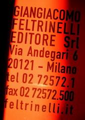 Leggere a ogni costo, Feltrinelli editore, progetto grafico dell'Ufficio Grafico Feltrinelli, cop. (part), 4