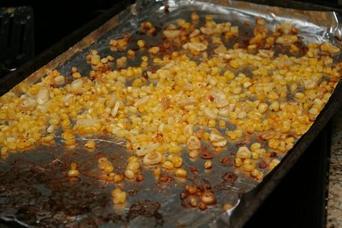 Zucchini & Chile Quesadillas with Roasted Corn & Garlic Salsa