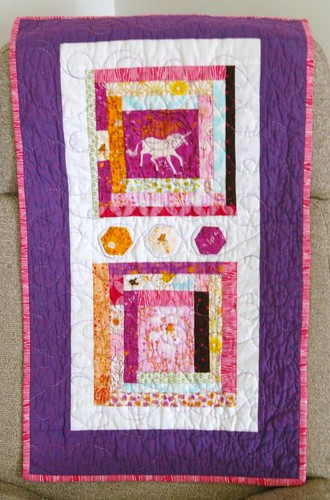 Doll quilt for me, from Amanda!
