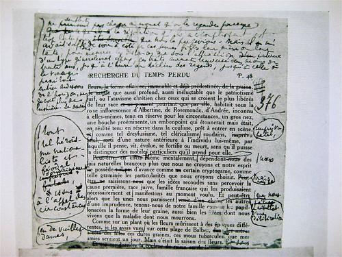 Prova di stampa de La Recherche du temps perdu, di Marcel Proust, corretta a mano dall'autore. In Caractère Nöel '63
